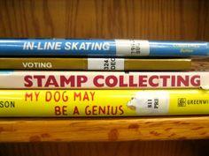Book Spine Poems
