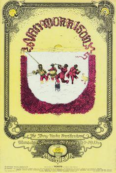 Van Morrison Fillmore Poster. Captain Beefheart & the Magic Band,Jerry Hahn Brotherhood. 10/8-11/1970