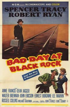 Bad Day At Black Rock (1954) Folks In Black Rock have their own way of welcoming mysterious, one-armed stranger John J. Macreedy. He's welcome to leave. Or they'll make sure he leaves in a pine box. T