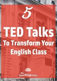 Which TED Talks are the best for your English class? How can you use TED Talks to create engaging, inspiring lessons and get students to speak up in class? Dont miss this post on 5 of my favourite TED talks. Join the FREE printables library at the end of Middle School Ela, Middle School English, Middle School Quotes, High School Reading, Education English, Teaching English, English Teachers, Teaching Spanish, Art Education
