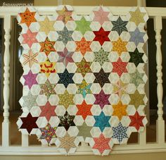 This unfinished project seams perfect to me just the way it is. By the talented (and ever so patient!) Helen from Findahappyplace blog.