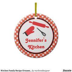 Kitchen Family Recipe Ornament
