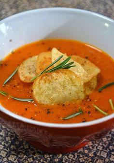Cantinho Vegetariano: Sopa de Pimentão e Tomate (vegana)