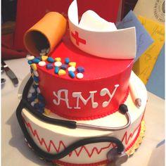 Nursing school graduation cake!!