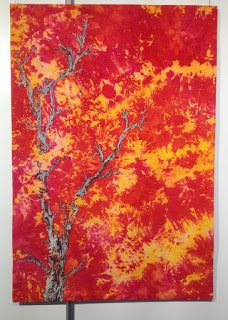 Flames by Hilde van Schaardenburg at the European Patchwork Meeting 2015