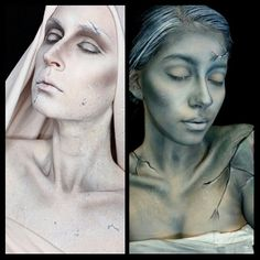 Unofficial Statue collab haha @kaylahagey did a beautiful statue makeup inspired…