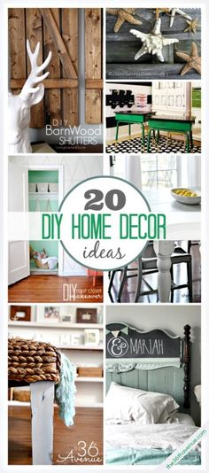 Last year my home got a few makeovers and this year I will be sharing some more ideas of how to make a house a home. Today I am sharing some of our readers favorite DIY Home Projects from The 36th Avenue and also a few other amazing home decor ideas that were linked up to our party this week...