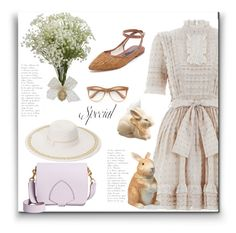 """Happy Easter"" by nanni33 ❤ liked on Polyvore featuring BBrowBar, Zimmermann, Zolà, National Tree Company, Burberry, COLLECTION 18, Wildfox and Certified International"