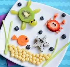 Если так подать , то ребенок точно захочет есть фрукты и овощи