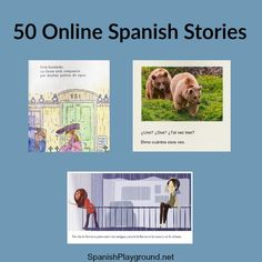 Online Spanish stories let kids practice reading anywhere! Fun stories about different topics at a range of levels. A story for every Spanish learner! Spanish Lessons For Kids, Spanish Teaching Resources, Spanish Lesson Plans, Spanish Activities, Listening Activities, Spanish Projects, French Lessons, Teacher Resources, Bilingual Classroom
