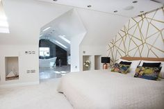 open-plan master bedroom and ensuite in a loft conversion