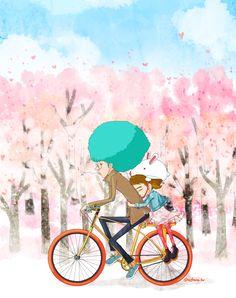spring bike drive with J.P.