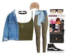 """"""""""" by miniurbanprincess ❤ liked on Polyvore featuring Topshop, H&M, Chanel, Vans, Gucci, Lumière and CÉLINE"""