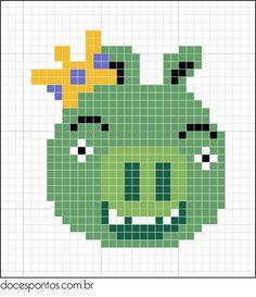 Angry Birds hama perler pattern