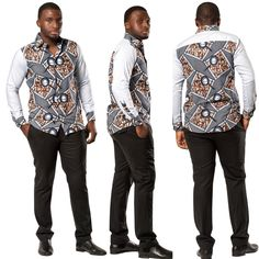 African femi men long sleeve shirt in 2019 african men fashi African Shirts For Men, African Dresses For Kids, African Clothing For Men, Latest African Fashion Dresses, African Men Fashion, Mens Clothing Styles, Mens Fashion, African Attire, African Wear