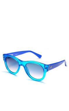 Turquoise Linda Sunglasses by Loewe - Moda Operandi