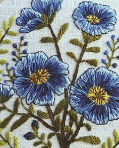 Hoop w.i.p.'s #embroidery #botanical