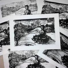 Terra pura. Minha primeira litografia. AMEI o processo!  Pure land. My first litography. Love the process. #art #litography #buddha #buddhism #tara #terrapura #pureland #sukhavati