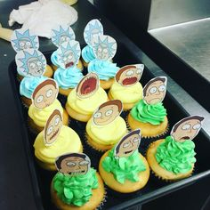 I made Rick and Morty Cupcakes!