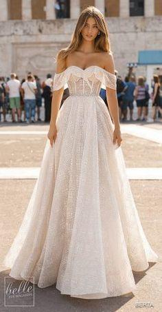 BERTA Wedding Dresses 2019 - Athens Bridal Collection Sweetheart Esküvői  Ruha 87ef275cb5