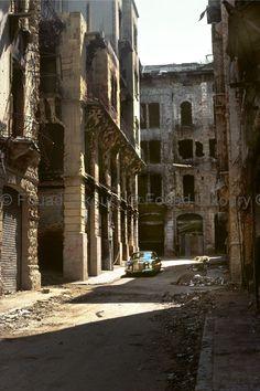 Fouad Elkoury-Civil War, 1977-1986-The Mercedes-Tijara Street-Beirut-1977