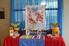 Ruby's Wonder Woman 5th Birthday Dessert Table
