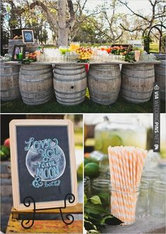 drink table ideas for your outdoor reception. See more of this Los Angeles wedding | VIA #WEDDINGPINS.NET