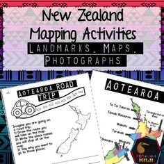 Landmarks, Maps and Photographs of Places in NZ A series of activities to each Social Studies for Years in New Zealand classrooms. 7th Grade Social Studies, Teaching Social Studies, Teaching Resources, Science Classroom, Social Science, Study In New Zealand, Indigenous Education, Map Games, Map Activities