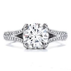 """""""You are the sunshine of my life""""- Frank Sinatra. Hearts On Fire Wondrous Split Shank Engagement Ring. Available Exclusively at Amour Jewellers."""