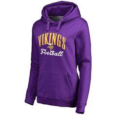 Minnesota Vikings Pro Line Women's Victory Script Pullover Hoodie - Purple - $59.99