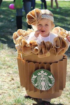 Pin for Later: 15 Insanely Adorable Starbucks Halloween Costumes For Kids of All Ages Pumpkin Spice Latte