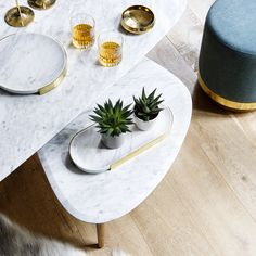 PLATEAUX EN MARBRE / MARBLE TRAY By Red Edition Studio  #rededitionparis #design #brass