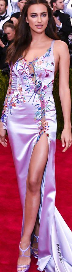 Irina Shayk @ the Met Gala 2015 Red Carpet Source~Getty Images