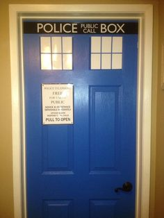 A DIY door done by two teenaged girls for their bedroom...I need to do this on the door from the garage into the house - Craft ~ Your ~ Home