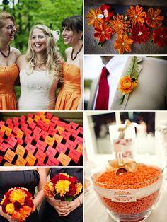 also LOOOVE the red orange white wedding themes...:)