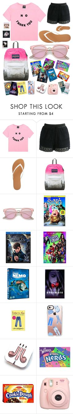 """""""Road Trip My Style"""" by pinkstars6 ❤ liked on Polyvore featuring Chicwish, Charlotte Russe, JanSport, Casetify, PhunkeeTree, Fujifilm, Polaroid and Band of Outsiders"""