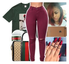 """""""join my group guise @prettycommittee☺"""" by daeethakidd ❤ liked on Polyvore featuring Gucci"""