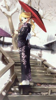 ღ Anime Girl in Kimono ღ