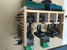 Cordless makita power tool station