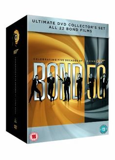 All the Bond films are gathered together in this one-of-a-kind box set -every gorgeous girl, nefarious villain and charismatic star from Sean Connery, the legendary actor who started it all, to Daniel Craig. A fitting tribute to the most iconic and enduri Sean Connery, Skyfall, James Bond, Casino Royale, Daniel Craig, George Lazenby, Licence To Kill, Spy Who Loved Me, Timothy Dalton