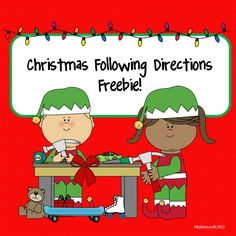 Christmas Freebie!  Easy to use, fun, following directions activity