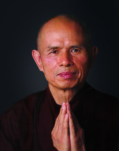Thích Nhất Hạnh | 1926- | Buddhist monk, teacher, author, poet and peace activist. He lives in Plum Village in the Dordogne region in the south of France, travelling internationally to give retreats and talks. He has published more than 100 books, including more than 40 in English. Active in the peace movement, promoting nonviolent solutions to conflict.
