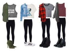 """""""Untitled #363"""" by piperpowell ❤ liked on Polyvore featuring NIKE, Zara, Rails, Monki, Gianvito Rossi, adidas, women's clothing, women, female and woman"""