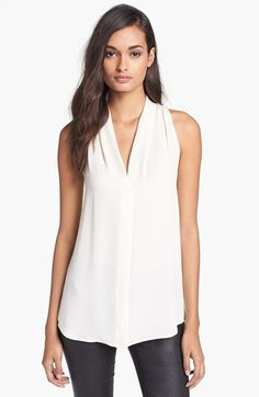 Theory 'Hylin' Silk Top available at #Nordstrom