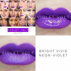 Violet Volt LipSense  - bright vivid neon violet lip color. Long-lasting, smudge proof, moisturizing Lip color. Better than lipsticks and lip stains. Want to see more colors, more products, or place an order  www.Happily.me or  Mallory@Happily.me