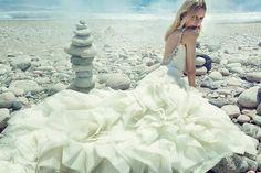 Badgley Mischka Bridal Spring 2015 Wedding Dresses. Love the ruffled skirt.