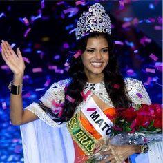 """Jakelyne Oliveira quando ganhou o Miss Brasil, em setembro de 2013: """"Deus obrigada por me proporcionar tanta felicidade, és a realização de um sonho, levar o nome do meu estado da minha cidade ainda mais longe"""""""