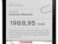 Dribbble - iFiche iPhone Interface by Alessandro Carraretto