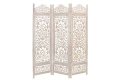 Caroline 3 panel room divider - I would love to hang this on the wall as 3 separate panels.