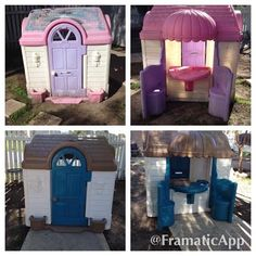 Before and After Plastic Playhouse I did...